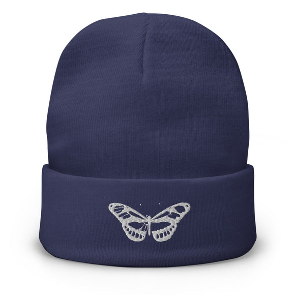 Embroidered Beanie - Butterfly