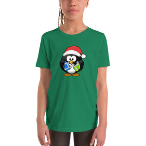 Youth Short Sleeve T-Shirt - Christmas Penguin