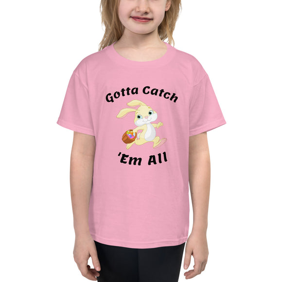 Youth Short Sleeve T-Shirt - Bunny Catch 'Em All