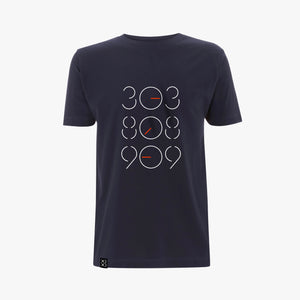 Bedrock 303:808:909 Tweaked T-Shirt Navy