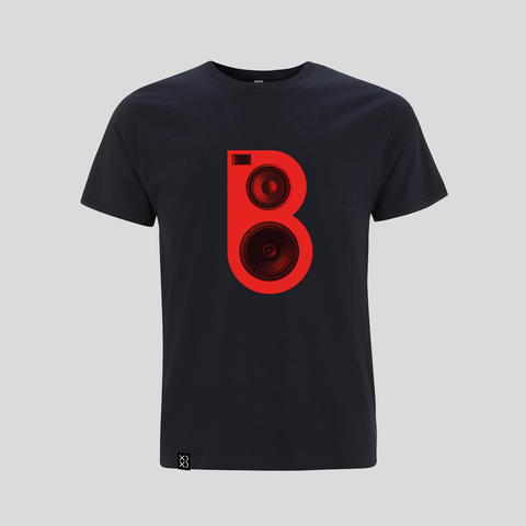 Bedrock Red Speaker T-Shirt - Navy