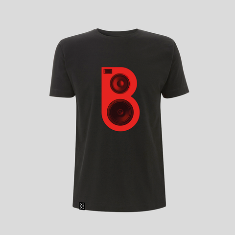 Bedrock Red Speaker T-Shirt - Black