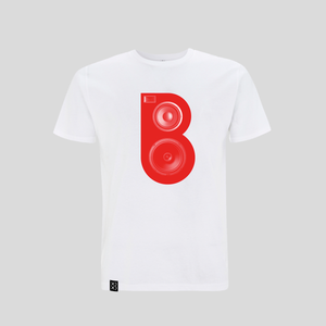 Bedrock Red Speaker T-shirt White