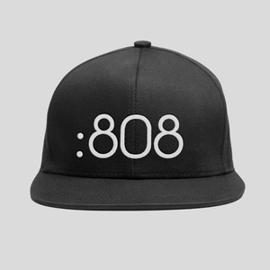 Bedrock 808 Snapback Hat in Black