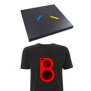 Bedrock XX Deluxe Vinyl & CD Box Set, Signed Print & Red Speaker T-shirt