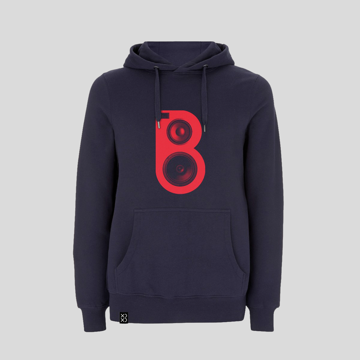 Bedrock Red Speaker Hoody - Navy