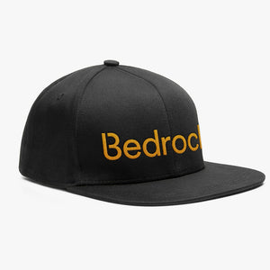 Bedrock 98 Snapback Hat in Black & Orange