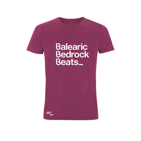Baleric Beats Mens T-Shirt - Plum Purple