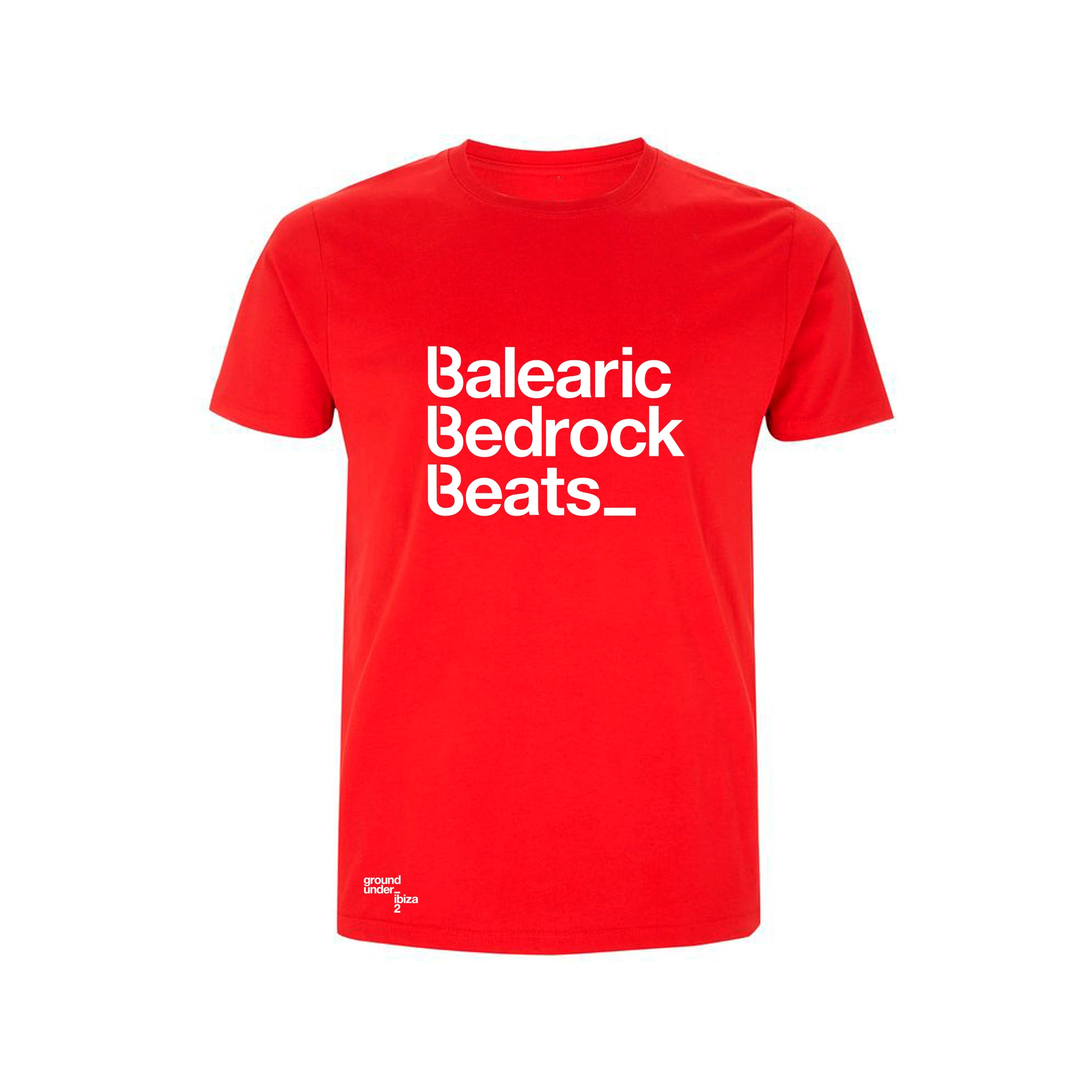 Baleric Beats Mens T-Shirt - Stereo Red