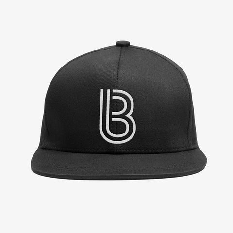 Bedrock Inline Snapback Hat in Black