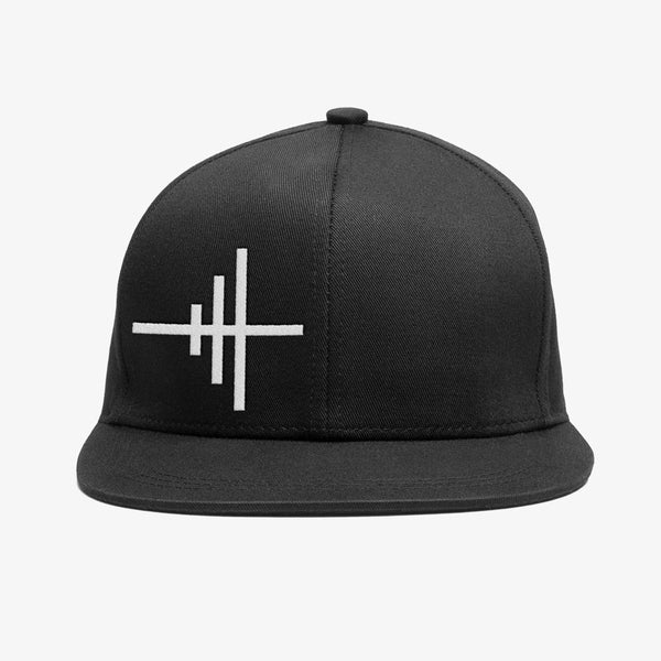 Bedrock Frequency Snapback Hat in Black