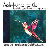 ad for apli-punto to go class with lyric kinard