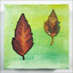 Original Artwork: Glory XXI one red one mottled leaf