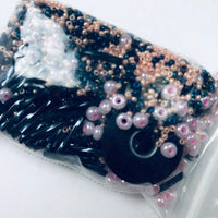 Beautiful Bag of Beads: pink and black