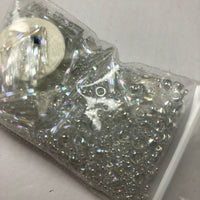 Beautiful Bag of Beads: all clear with pearly glow