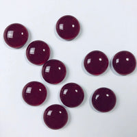 10 Dichroic Glass Cabochons, ruby and subtly sparkly