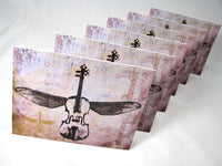 Blank Notecards: Signature Violin in Flight