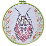 Embroidery Kit by Lyric Kinard All Buggy Shieldbug