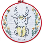 Embroidery Kit by Lyric Kinard All Buggy Stag Beetle