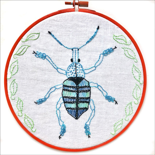 Embroidery Kit by Lyric Kinard All Buggy - Weevil