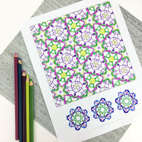 Deco: digital download celtic knot coloring pages