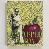 art by Lyric Montgomery Kinard an apple a day triptych