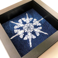 Original Artwork: Framed Beaded Snowflake 3