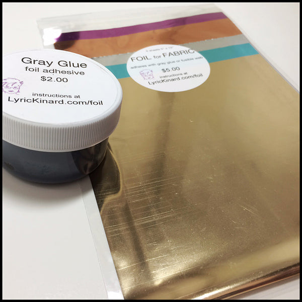 Foil Glue for Fabric, 1 oz jar