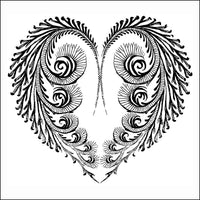 Heart Feathered Thermofax Screen