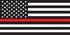 Universal Thin Red Line American Flag Window Decal Set