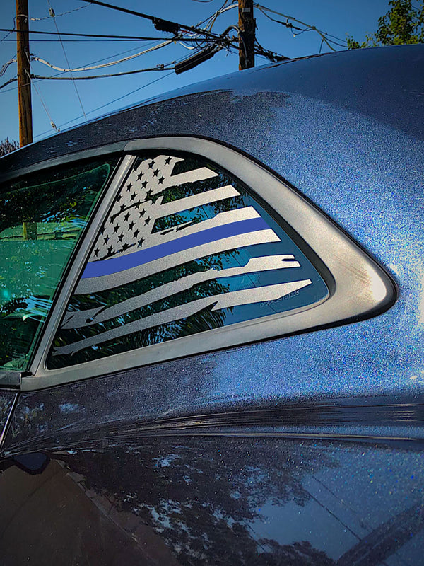 Distressed Quarter Window Flag Decal 2010-15 Chevy Camaro
