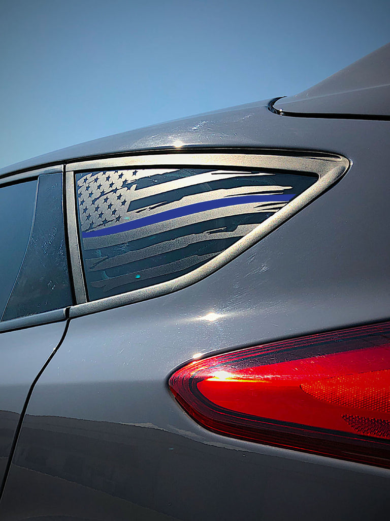 Distressed Quarter Window Flag Decal 2015-2018 Focus ST/RS ...
