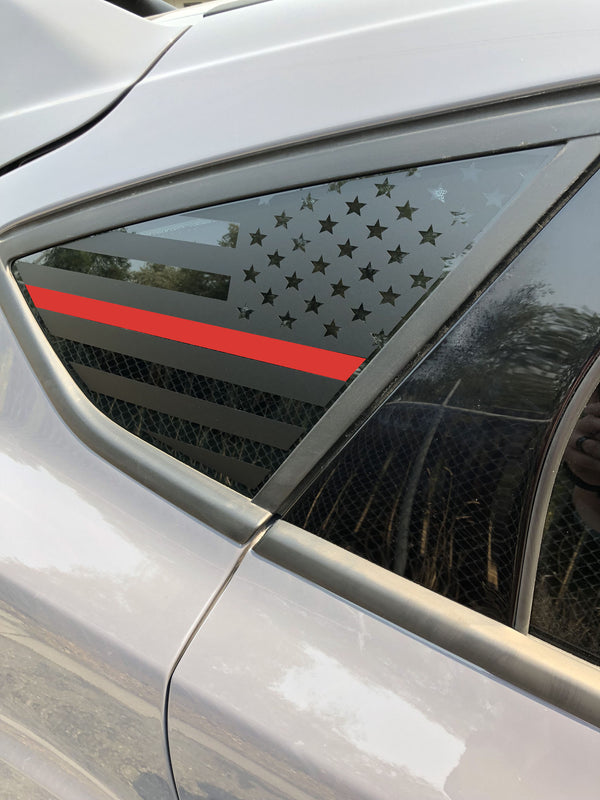 American Flag Quarter Window Decal 2015-2018 Ford Focus ST/RS