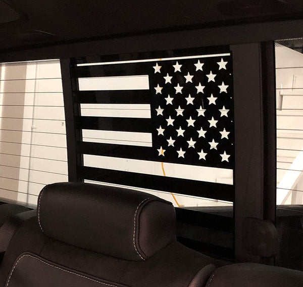 Ford F150 / f250 / f350 Back Middle Window American Flag Decal 2015-2020