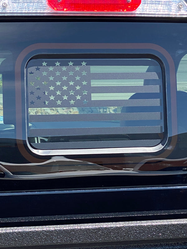 Ford Ranger Back Middle Window American Flag Decal 2019-2020