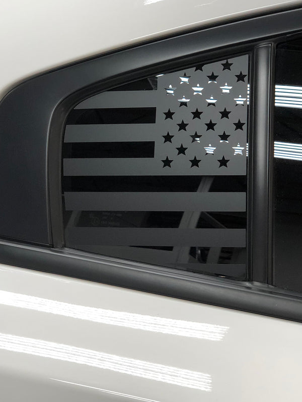 American Flag Quarter Window Decal 2011-18 Dodge Charger