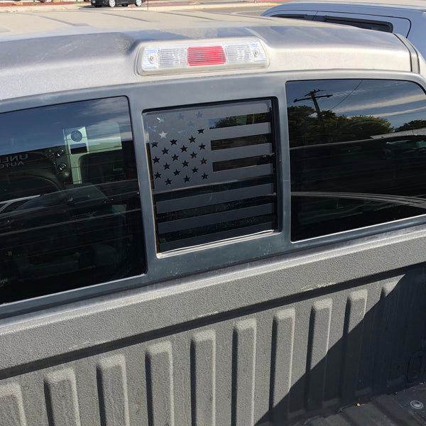 Ford F150 Back Middle Window American Flag Decal 2004-2014