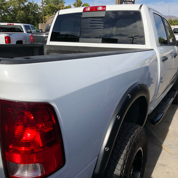 Dodge RAM Back Middle Window Distressed American Flag Decal 2009-2018