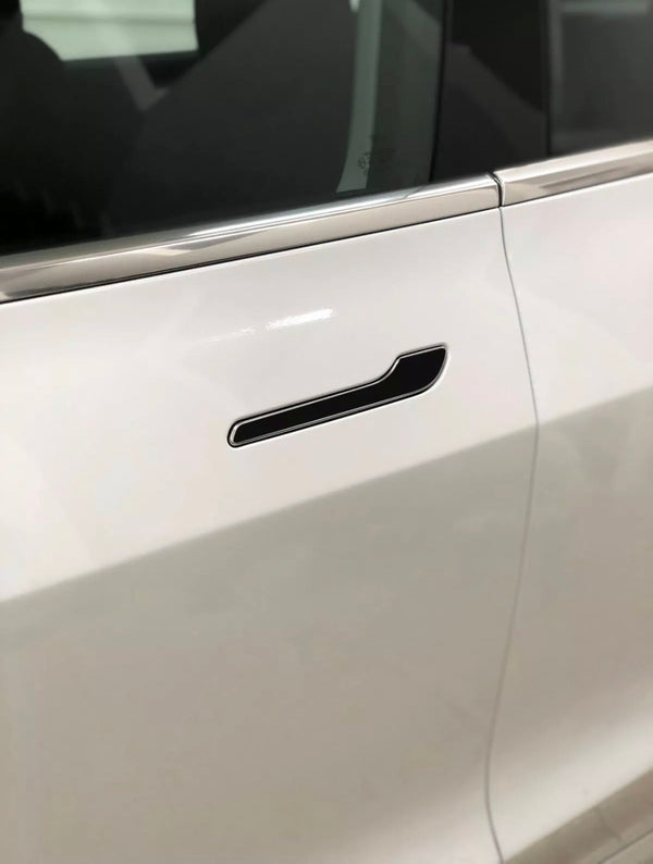 Tesla Model 3 Door Handle Wrap Kit Gloss Black