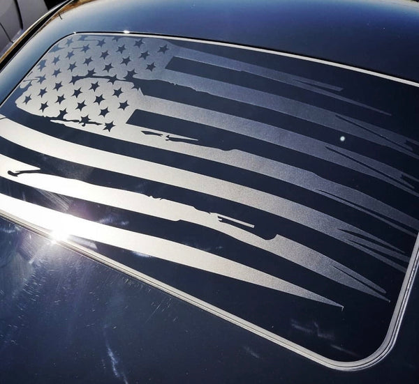 Dodge Challenger Sunroof American flag decal 2008- 2018