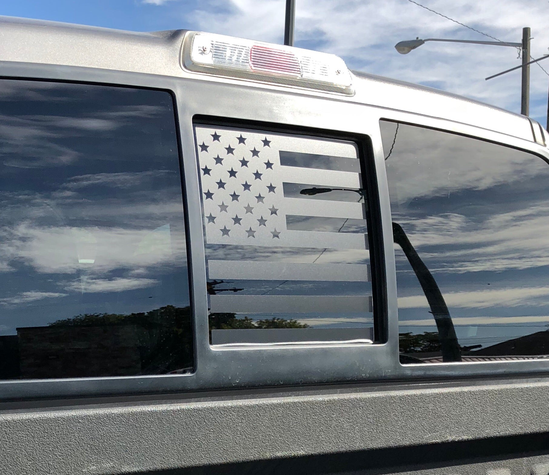 Ford f150 back middle window american flag decal 2004 2014