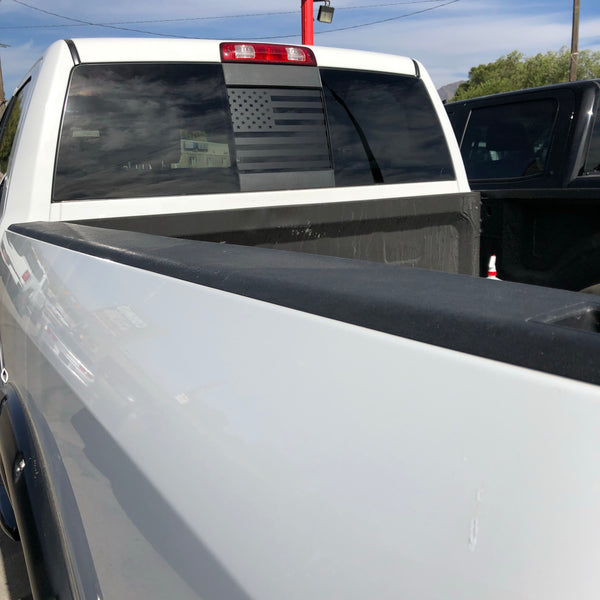 Dodge RAM Back Middle Window American Flag Decal 2009-2019