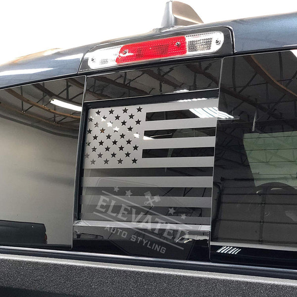 Dodge RAM Back Middle Window American Flag Decal 20019-2020
