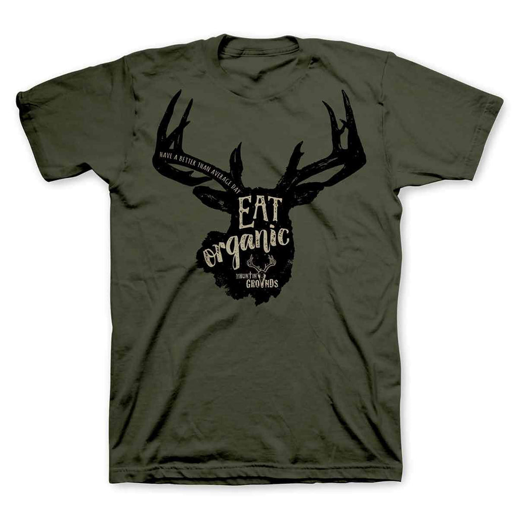 The Huntin Grounds - Eat Organic - Adult T-Shirt