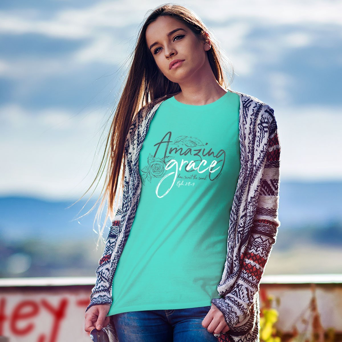 Kerusso® Adult T-Shirt - Grace Drawings