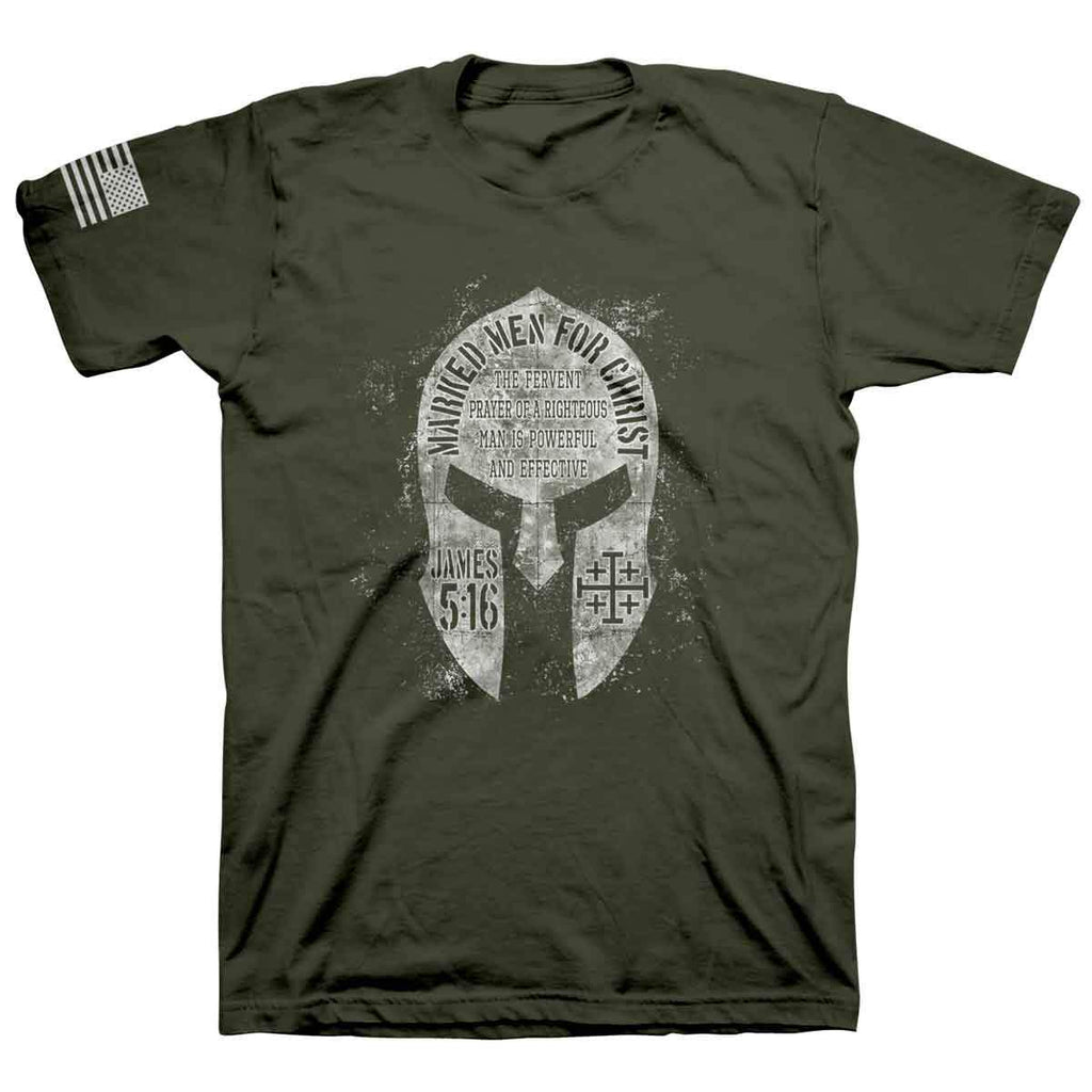 MMFC - Spartan Helmet Military Green Adult T-shirt