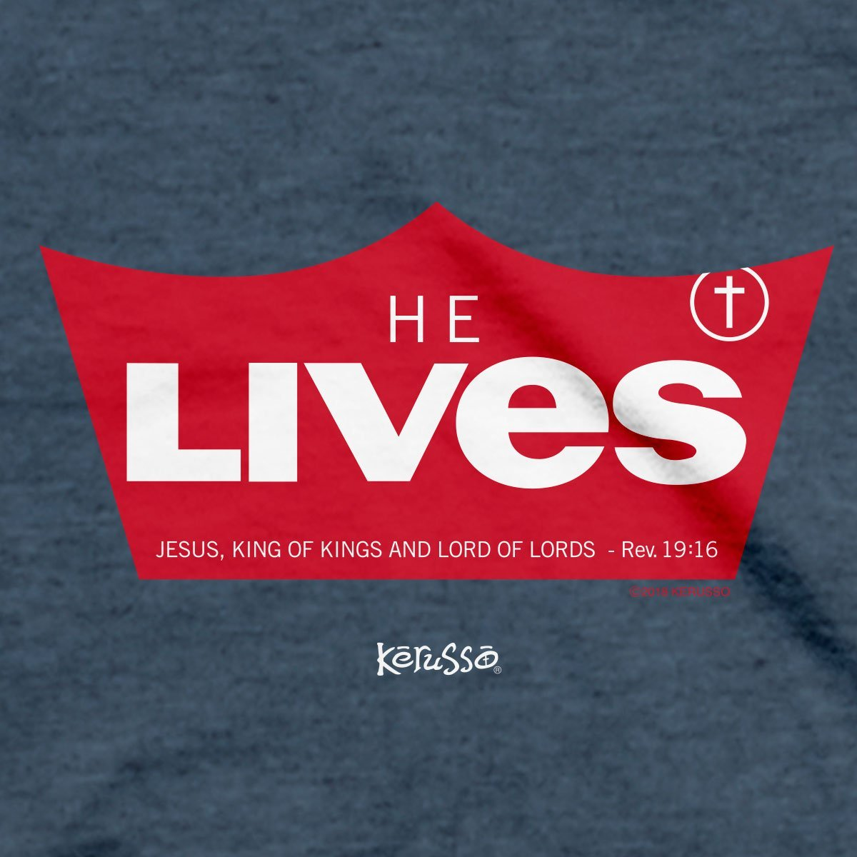 Kerusso® Christian T-Shirt He Lives