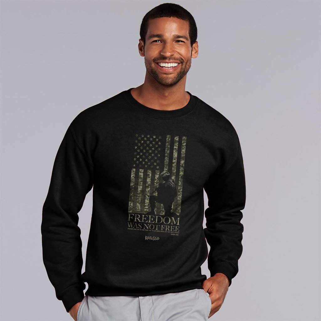 Marked Men for Christ -  Freedom Wasn't Free Adult Sweatshirt