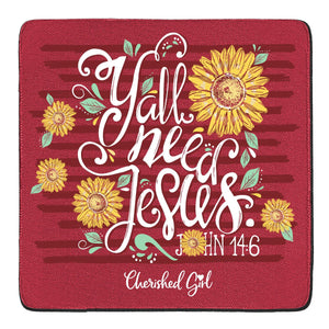 Cherished Girl Christian Drink Coasters Y'all Need Jesus