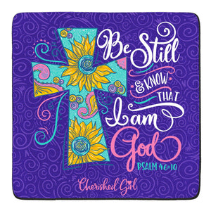 Cherished Girl Christian Drink Coasters Be Still